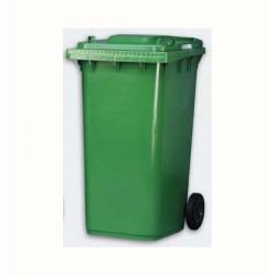 Cubo Basura Ruedas Verde 120L